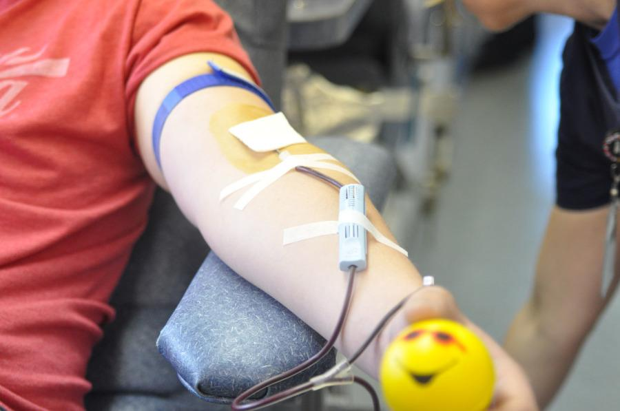 Blood drive held at critical moment