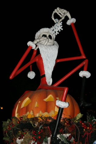 Christmas decorations in October