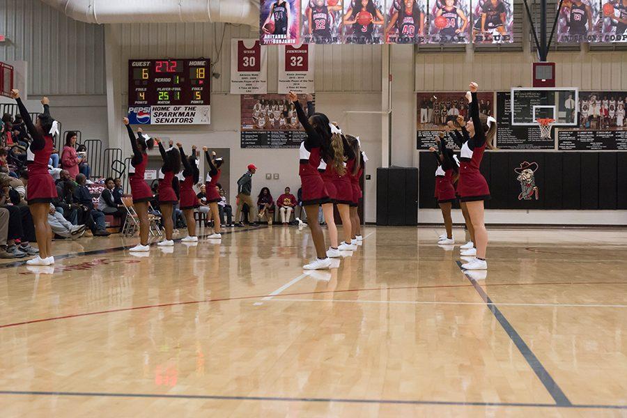 Basketball+Cheer+Takes+Spotlight