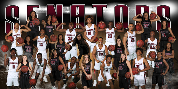 The basketball teams show that they are ready for the upcoming season in their promotional photo.