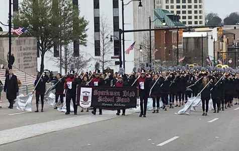 Band Marches in Parade for First Time in School History