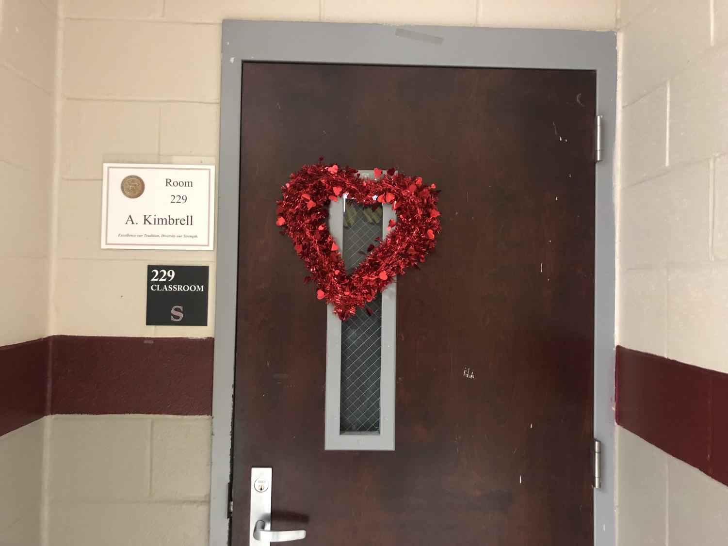 Students are gearing up for Valentine's Day.
