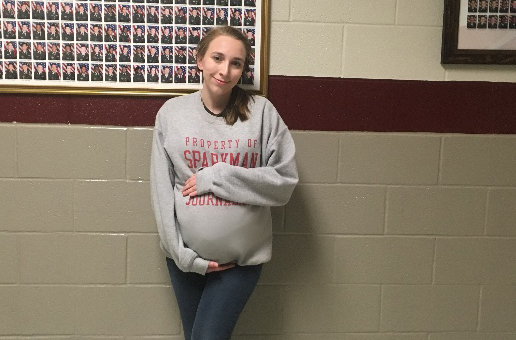 Sophomore Madison Duboise learns how being pregnant can affect one's life.