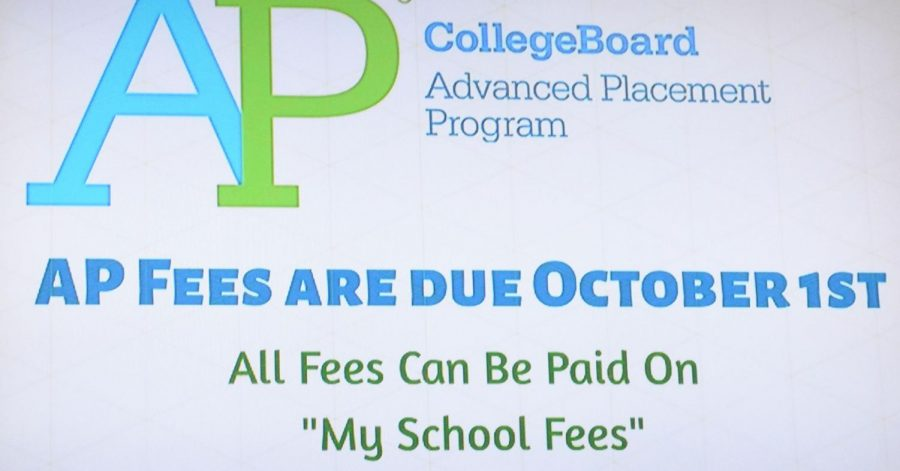 Collecting Ap fees earlier proves to be more effective in test taking for students.