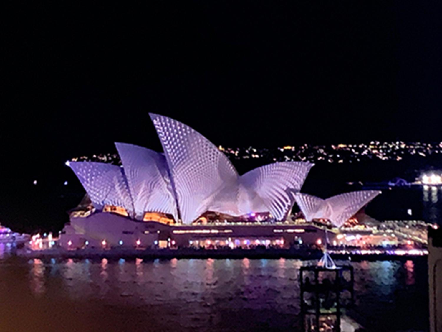 The Sydney Opera House is just one of the attractions students were able to visit on their summer trip Down Under.