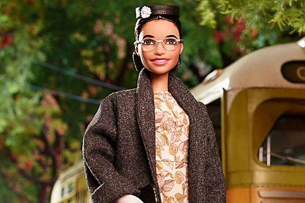 Rosa Parks is one of the new doll Mattel has created for the Inspiring Women Series.