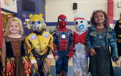 Elementary Students Enjoy Halloween Dance