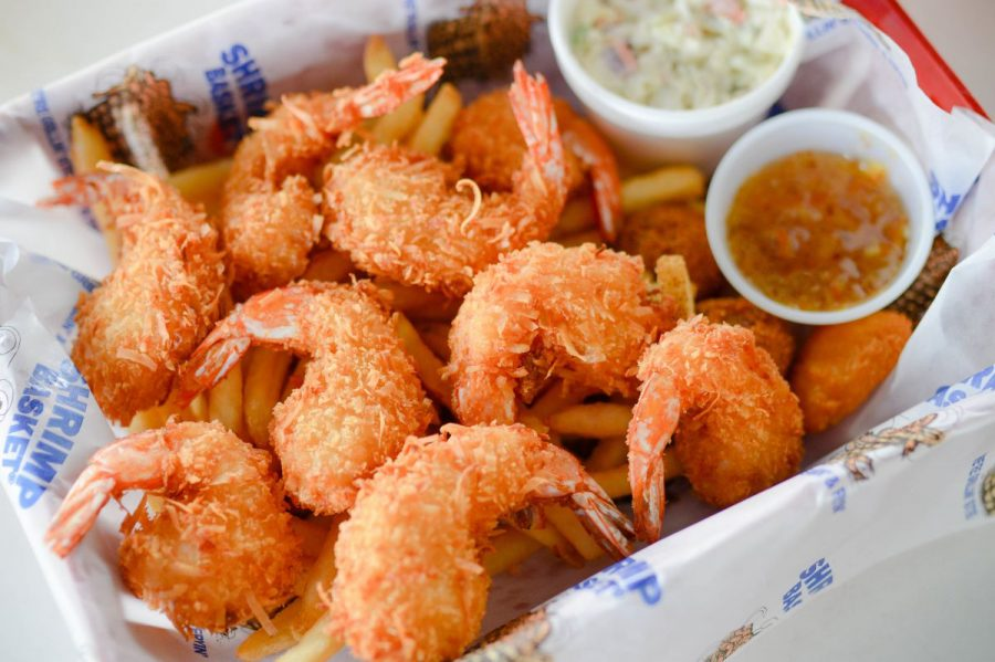 The Shrimp Basket is known for its fresh seafood shipped from the Gulf. The restaurant has been made famous for its Gulf Shores location.
