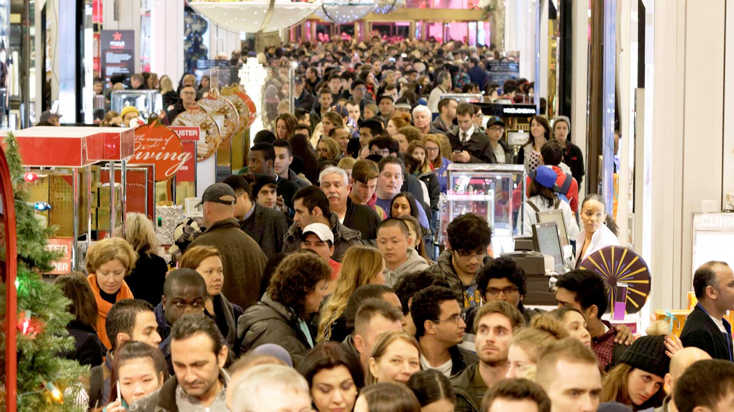 Despite stores being open on Thanksgiving, the crowds are still rough on Black Friday.