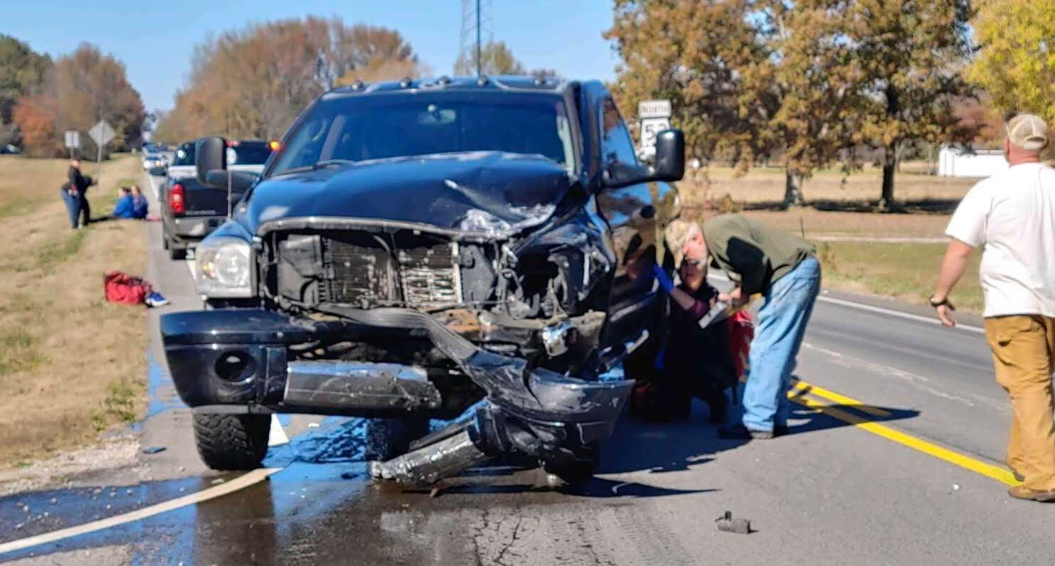 A wreck on Hwy. 53 stops traffic. The increase in accidents on this stretch of road have led Rep. Andy Whitt to lobby for help.