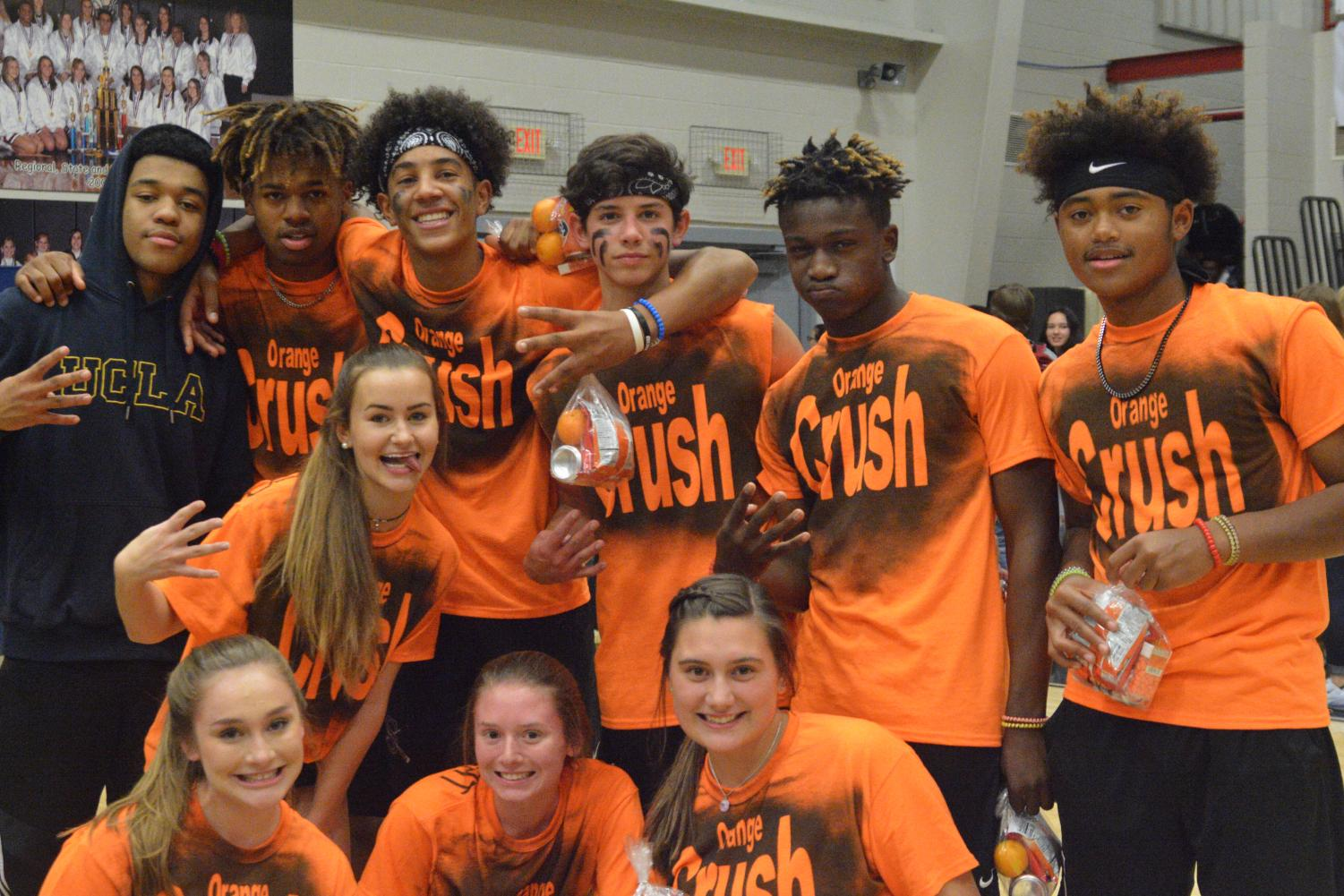 Orange Crush, the winning team, poses for a quick photo after the tournament.