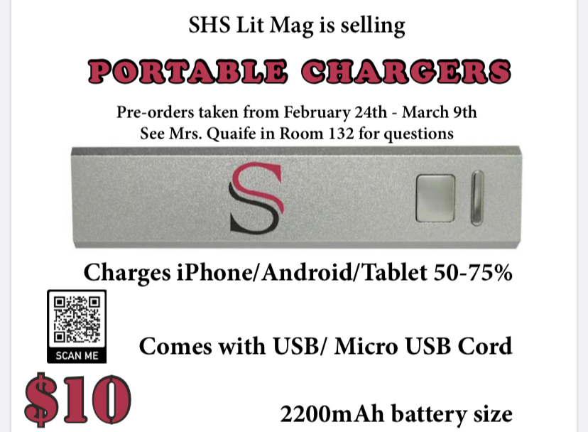 Literary Magazine Sells Portable Chargers For Fundraiser