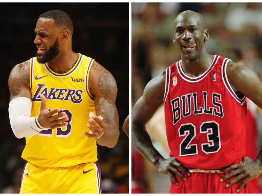 The great, G.O.A.T. debate centers around Michael Jordan and Lebron James.