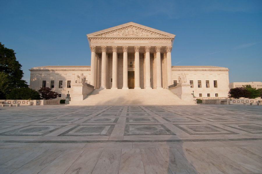 The+Supreme+Court+building+looms+large+in+Washington%2C+D.C.+