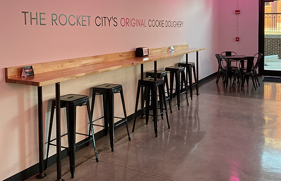 The Rocket Citys Original Cookie Doughery opened last month.