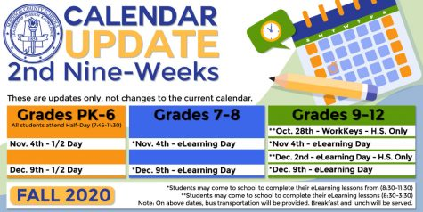 New Calendar Update Includes Multiple E-Learning Days