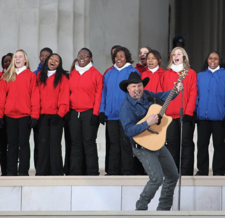 Trying to keep the Inauguration normal, stars like Garth Brooks still performed.