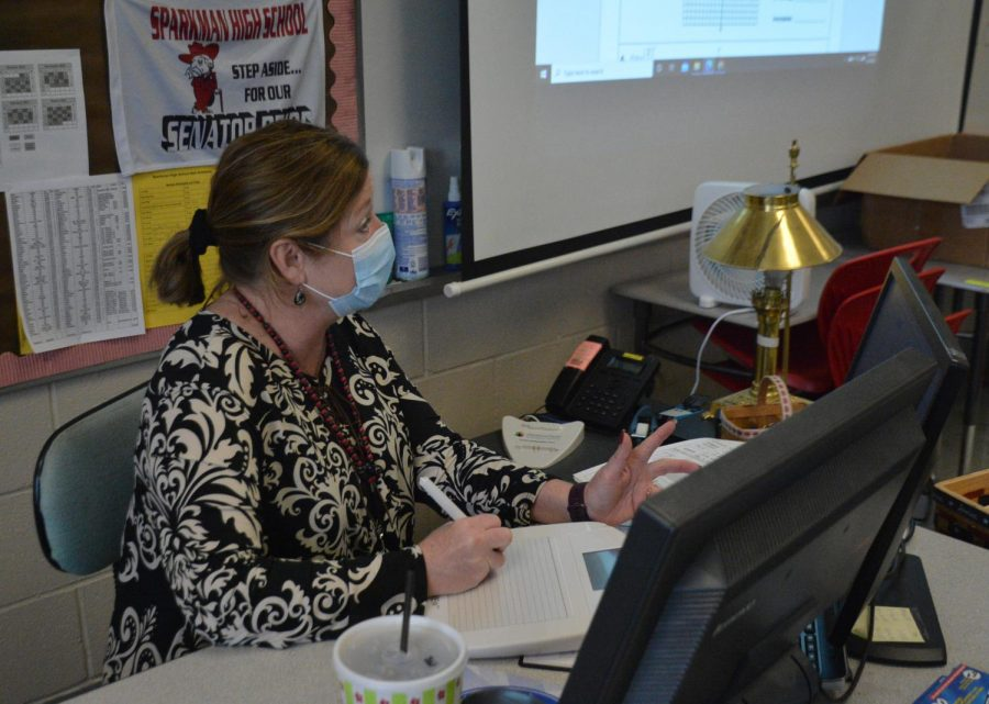 After 27 years teaching math at Sparkman, Becky Chapman is retiring. Chapman has agreed to teach math at a high school in Tennessee in the fall.