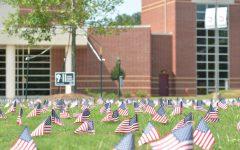 The 9/11 Memorial in front of Sparkman high School