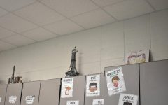 The Eiffel Tower inside Mrs. Hamletts room